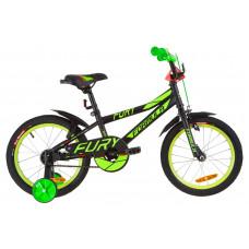 """Велосипед 16"""" Formula FURY 14G St з крилом Pl 2019 (чорно-зелений з червоним)"""