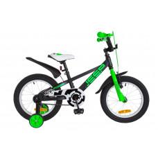 """Велосипед 16"""" Formula JEEP 14G St с крылом Pl 2018 (черно-салатный)"""