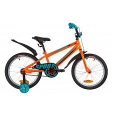 """Велосипед 18"""" Formula SPORT 14G St з крилом Pl 2019 (помаранчево-бірюзовий)"""