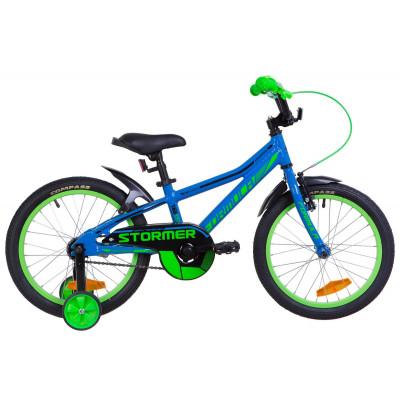 """Велосипед 18"""" Formula STORMER 14G Al з крилом Pl 2019 (синій)"""