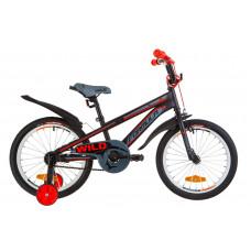 """Велосипед 18"""" Formula WILD посилен. St з крилом Pl 2019 (чорно-червоний)"""