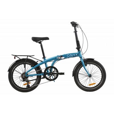 """Велосипед 20"""" Dorozhnik ONYX складаний (синій)"""