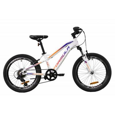 """Велосипед AL 20"""" Formula BLACKWOOD 1.0 AM Vbr 2020 (біло-фіолетовий з оранжевим)"""