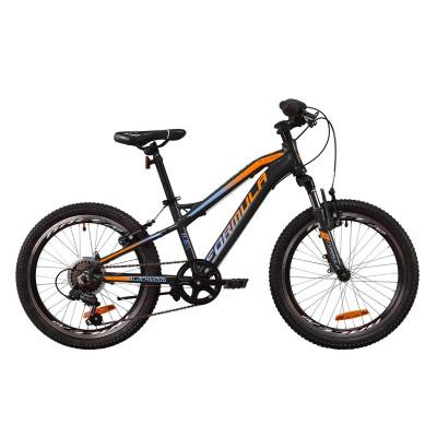 """Велосипед AL 20"""" Formula BLACKWOOD 1.0 AM Vbr 2020 (серый с голубым и оранжевым)"""
