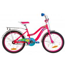 """Велосипед 20"""" Formula FLOWER 14G St з багажником зад St, з крилом St 2019 (рожевий)"""