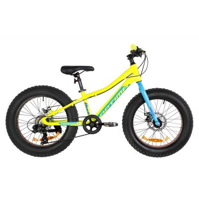 """Велосипед 20"""" Optimabikes PALADIN 14G DD Al 2019 (жовто-синій)"""