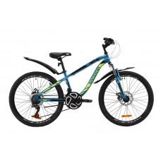 """Велосипед ST 24"""" Discovery FLINT AM DD з крилом Pl 2020 (блакитно-жовтий з чорним)"""