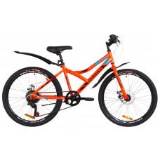 """Велосипед 24"""" Discovery FLINT 14G DD St з крилом Pl 2019 (помаранчевий)"""