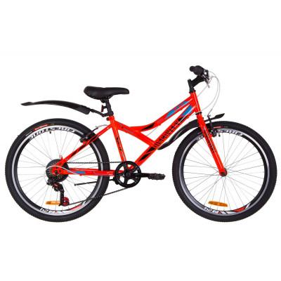 """Велосипед 24"""" Discovery FLINT 14G Vbr St с крылом Pl 2019 (оранжевый)"""