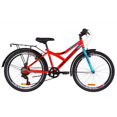 """Велосипед 24"""" Discovery FLINT MC 14G Vbr St с багажником зад St, с крылом St 2019 (оранжевый)"""