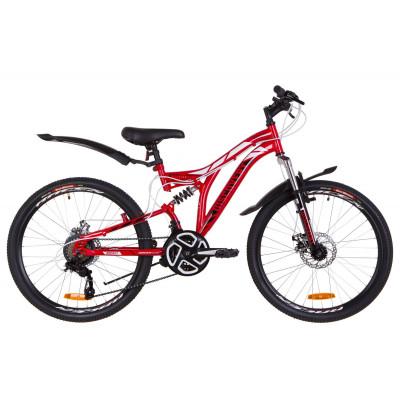 """Велосипед 24"""" Discovery ROCKET AM2 14G DD St з крилом Pl 2019 (червоно-білий з чорним)"""