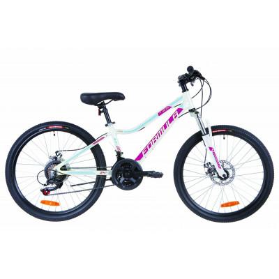 """Велосипед 24"""" Formula ACID 1.0 AM 14G DD Al 2019 (біло-малиновий з блакитним)"""