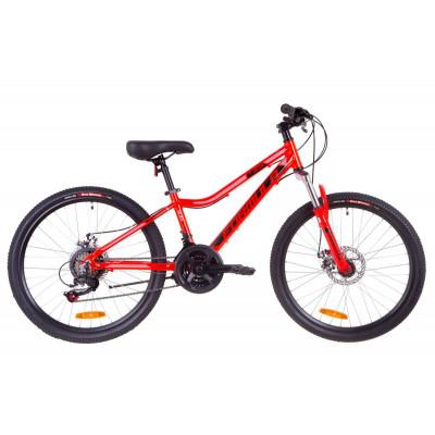"""Велосипед 24"""" Formula ACID 1.0 AM 14G DD Al 2019 (красно-черный с синим)"""