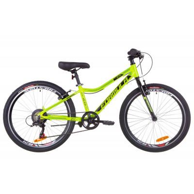 """Велосипед 24"""" Formula ACID 1.0 14G Vbr Al 2019 (салатово-чорний з бірюзовим)"""