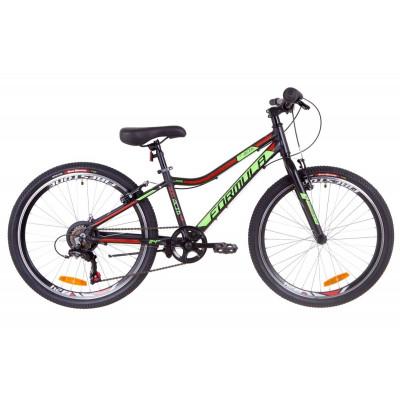 """Велосипед 24"""" Formula ACID 1.0 14G Vbr Al 2019 (черно-зеленый с красным)"""