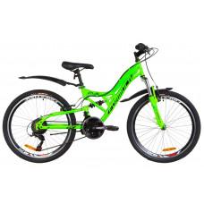 """Велосипед 24"""" Formula ATLAS AM2 14G Vbr St с крылом Pl 2019 (салатный)"""