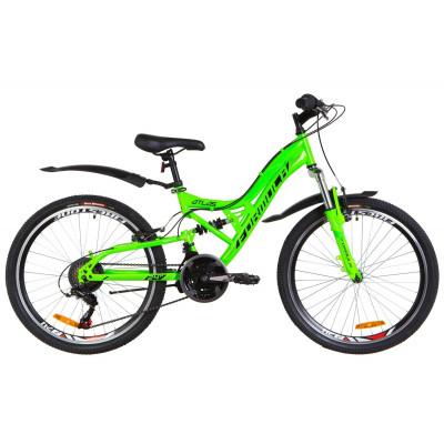 """Велосипед 24"""" Formula ATLAS AM2 14G Vbr St з крилом Pl 2019 (салатовий)"""