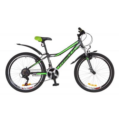 """Велосипед 24"""" Formula FOREST AM 14G Vbr St с крылом Pl 2018 (черно-зеленый)"""