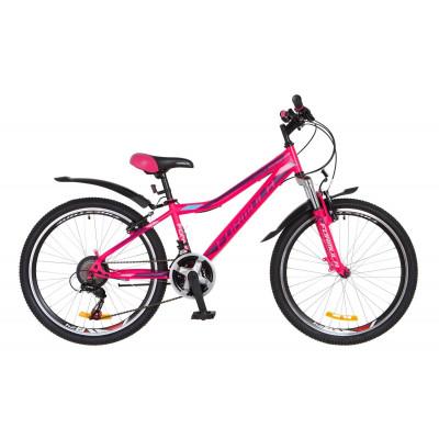 """Велосипед 24"""" Formula FOREST AM 14G Vbr St с крылом Pl 2018 (розово-фиолетовый)"""