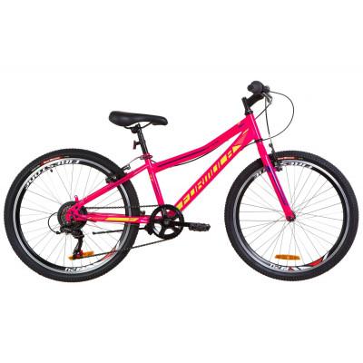 """Велосипед 24"""" Formula FOREST 14G Vbr St 2019 (малиновый с салатным)"""
