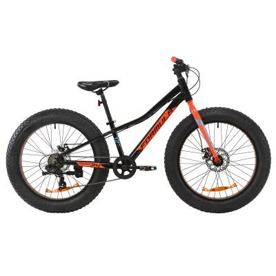 """Велосипед AL 24"""" Formula PALADIN DD 2020 (чорно-червоний з бірюзовим)"""
