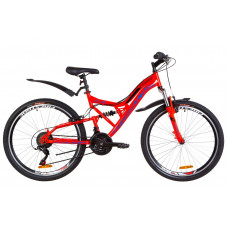 """Велосипед 24"""" Formula ATLAS AM2 14G Vbr St с крылом Pl 2019 (красно-синий)"""