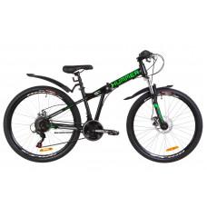 """Велосипед 26"""" Formula HUMMER AM 14G DD St с крылом Pl (черно-салатный)"""