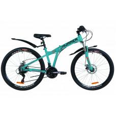 """Велосипед 26"""" Formula HUMMER AM 14G DD St с крылом Pl (синий с оранжевым)"""